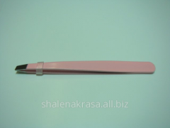 Tweezers with the slanted ends