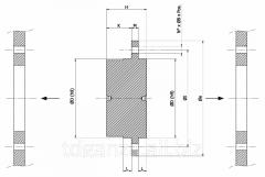 Stupnitsa MC030 on bolts for installation of