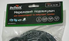 Удлинитель DeTech 3500Вт 5м 1гнездо