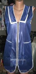 Фартук-халат без рукавов на молнии