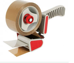 The machine for an adhesive tape