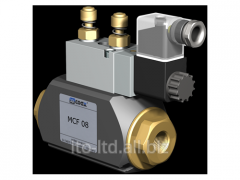 2/2 running coaxial valve with MCF 08 pneumatic
