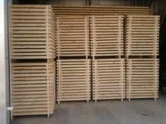 Timber for pallets, preparations for europallets