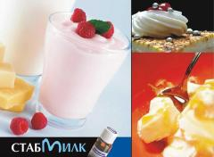 STABILIZERS, EMULSIFIERS FOR DAIRY PRODUCTS