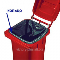 Bag ring holder for the container 120l