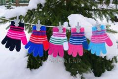 Gloves for girls in a strip for 2 - 4 RENA