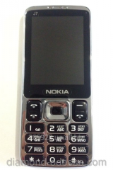 The Nokia J7 mobile phone on 2 SIM cards