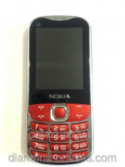 The Nokia J3 mobile phone on 2 SIM cards