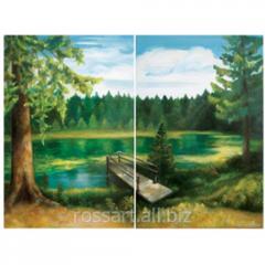Картина Маслом Голубое озеро