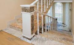 Balustrade elements: columns, curbstones, decor