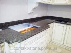 Table-top from dark granite