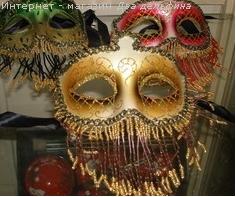 Маски сувенирные - голова слона, маска-зубы, маски