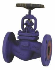 The locking PN40 valve, with the certificate 3.1. In EN 10 204