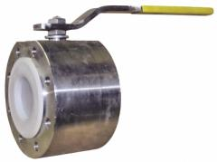 The spherical PN40 valve full bore with the handle
