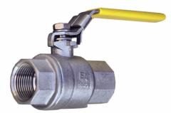 The spherical valve the F120 PN63 type, full bore, with the handle