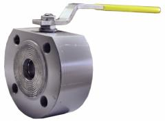 The spherical PN40 valve full bore with the handle, the certificate 3.1. EN 10 204