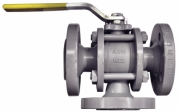 Spherical valve 3-running FAS-KHF W3 PN40 type, full bore