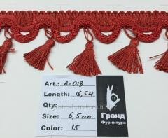 Fringe with brushes multi-colored, Arth. A-018