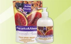 Liquid Ficus carica & Almonds cream-soap