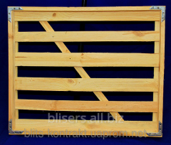Wooden tray for transportation of bread