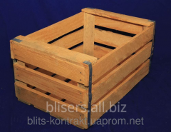 Boxes apple wooden for the decor and furniture