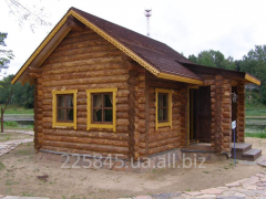 Construction of rural houses, houses for rest from