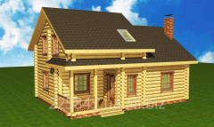 Construction, production of wooden cottages from a