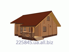 Construction of cottages from a felling Carpathian