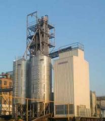 Galvanized silo.
