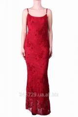 Элегантное вечернее гипюровое платье в пол из