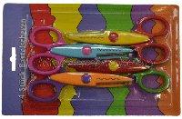 Set of scissors with figured edge 312