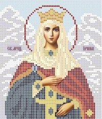 The scheme for embroidery the Icon Saint Irene