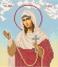 The scheme for embroidery the Icon Saint Yulia