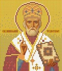 The scheme for embroidery the Icon Saint Nikolay