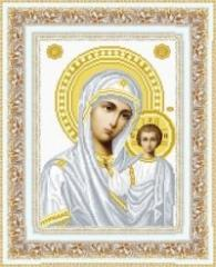 The scheme for embroidery the Kazan icon of the
