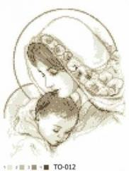 The scheme for embroidery Maria with the baby
