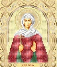 The scheme for embroidery Saint Ksenia