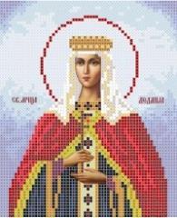 The scheme for embroidery Saint Lyudmila