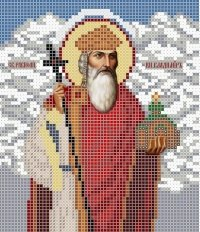 The scheme for embroidery the Icon the Saint