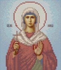 The scheme for embroidery Saint Nika