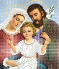 The scheme for embroidery the Icon the Holy Family