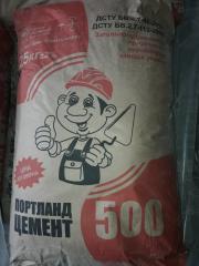 Цемент тарований ПЦ-І 500, Д-0 бездобавочний,