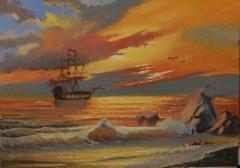 """Картина """"Море"""" (Ручная работа)"""