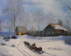 """Картина """"Зима""""(Ручная работа)"""