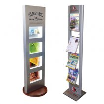 Universal racks under newspapers and magazines,