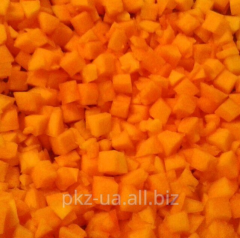 The pumpkin frozen cube