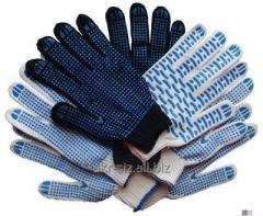 Gloves with PVC poin