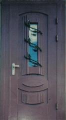 Филенчатая двери со стекло пакетом