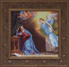 Set for embroidery by beads the Annunciation the