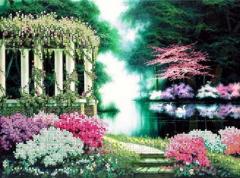 Схема для вышивки бисером Цветущий парк Код товара